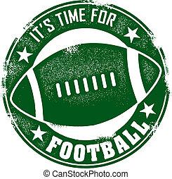 American football stamp.