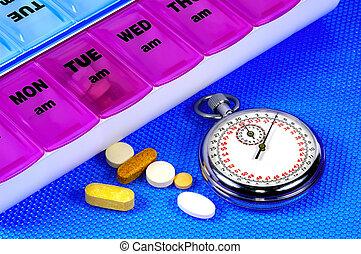 Pill Dispenser and a Stopwatch
