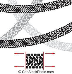 Tire Track. Illustration for design on white background.