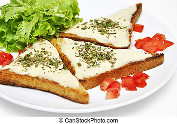 toasts with goat cheese