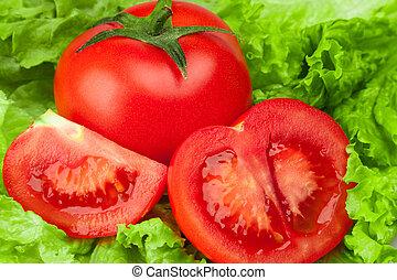 Tomato with salad