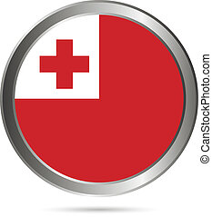 Tonga flag button.