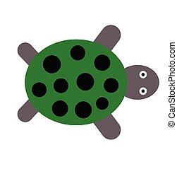 Tortoise flat illustration