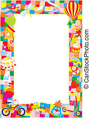 Vector frame with children's toys