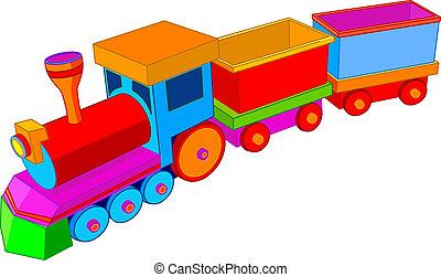 Beautiful multi colored toy train