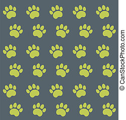 Traces of Cat Textile Pattern