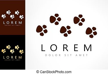 traces of paws logo vector