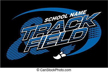 track & field team design with track foot for school, college or league