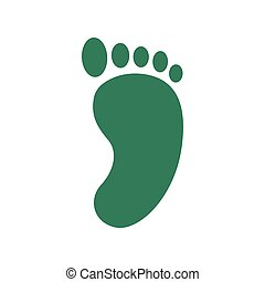 Track foot in trendy flat style isolated. Stock Vector illustration.