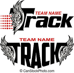 track team design with wings