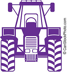 tractor front illustration clip-art eps vector