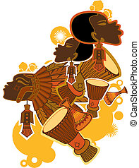 traditional african people