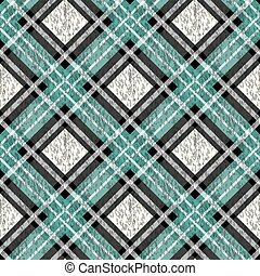 Traditional tartan. Seamless Scottish plaid checkered vector pattern. Retro textile collection. Green.