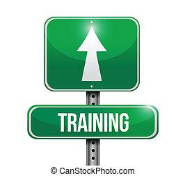 training road sign illustration design over a white background