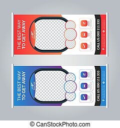 Travel agency roll-up banner stand template