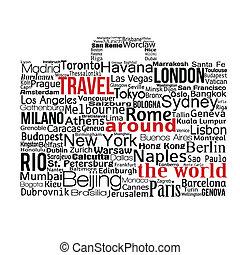 Travel around the world concept
