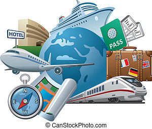 Travel and tourism concept icon