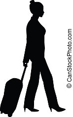 Traveling Woman Silhouette