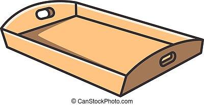 Tray vector cartoon illustration