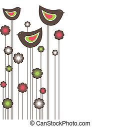 Tree birds. vector illustration