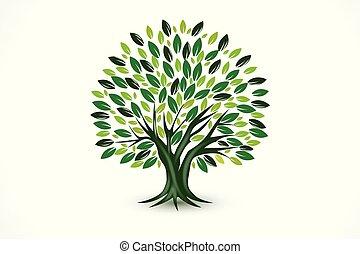 Tree ecology vector symbol logo