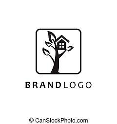 Tree House Logo vector symbol