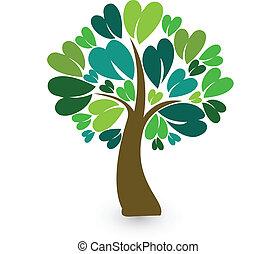 Tree stylized identity card logo