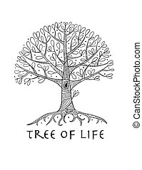 Tree with roots for your design