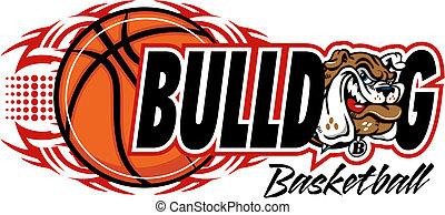 tribal basketball with bulldog