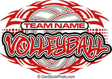 tribal volleyball design