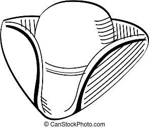 Tricorn Colonial Hat Clip Art
