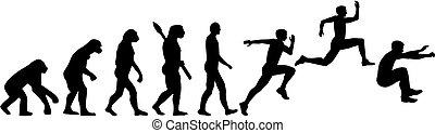 Triple jump Dreisprung Evolution