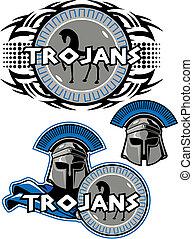 trojan mascot design