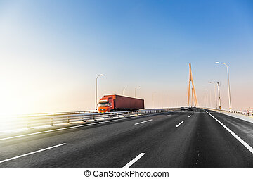 truck at highway