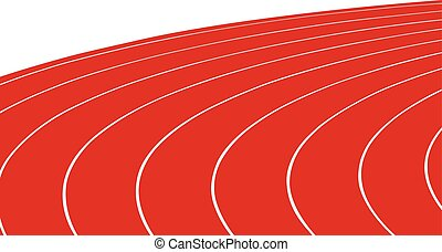 turn red running track