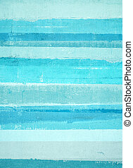 Turquoise and Blue Abstract Art