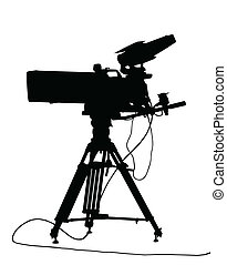 Silhouetted Isolation of a Modern TV Camera