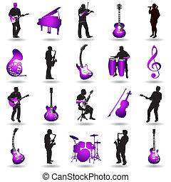 vector music elements
