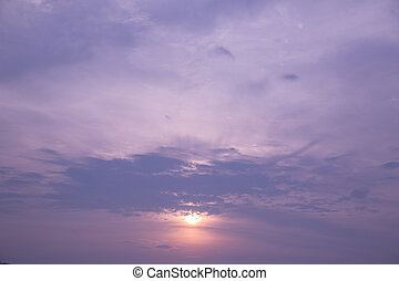Twilight cloudscape ,landscape wonfuld and beautiful Natural