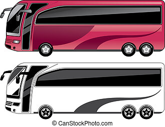two color bus.