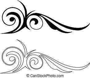 Two Elegance Elements. Vector illustration