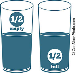 A glass half full and a glass half empty