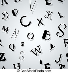 Typography Pattern of Letters with Shadow ??? Seamless Background