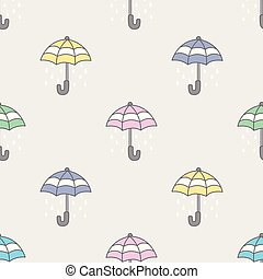 Umbrella Seamless Pattern rain vector isolated repeat wallpaper tile background
