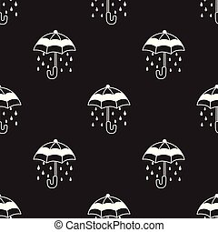 Umbrella Seamless Pattern rain vector isolated repeat wallpaper tile background doodle illustration