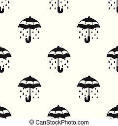 Umbrella Seamless Pattern rain vector isolated wallpaper background