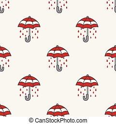 Umbrella Seamless Pattern rain vector isolated wallpaper tile background