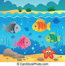 Underwater ocean fauna theme 2 - eps10 vector illustration.