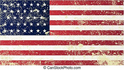 A grunge style Union civil war stars and stripes flag