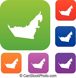 United Arab Emirates map set collection
